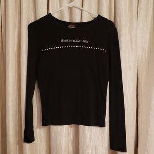 Harley Davidson White Plains Long Sleeve Tshirt